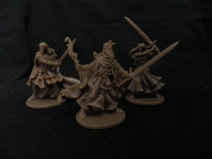 Silas, Nelly , Baldric, Zombicide Black plague