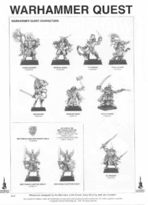 WARHAMMER QUEST CHARACTERS