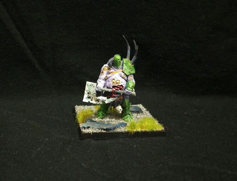 goblin tramposo, nurgle, chaos, barbaro del caos, warhammer, age of sigmar, putrid blight king, campeon del caos, Lord of Plagues