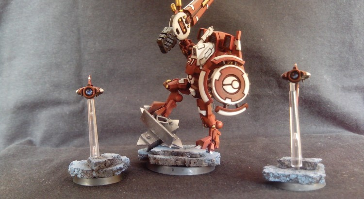 TAU BATTLESUIT COMMANDER SHAS'O R'ALAI WITH DRONES 2
