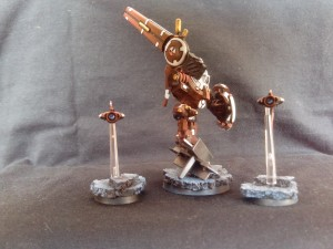 TAU BATTLESUIT COMMANDER SHAS'O R'ALAI WITH DRONES 3