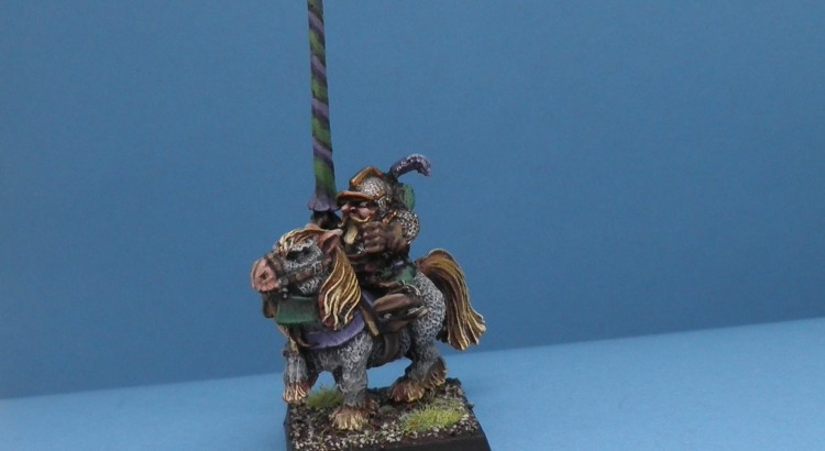 dwarf general on pony